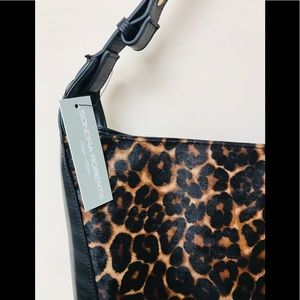 Leather Sondra Roberts With Leopard Insert, NWT